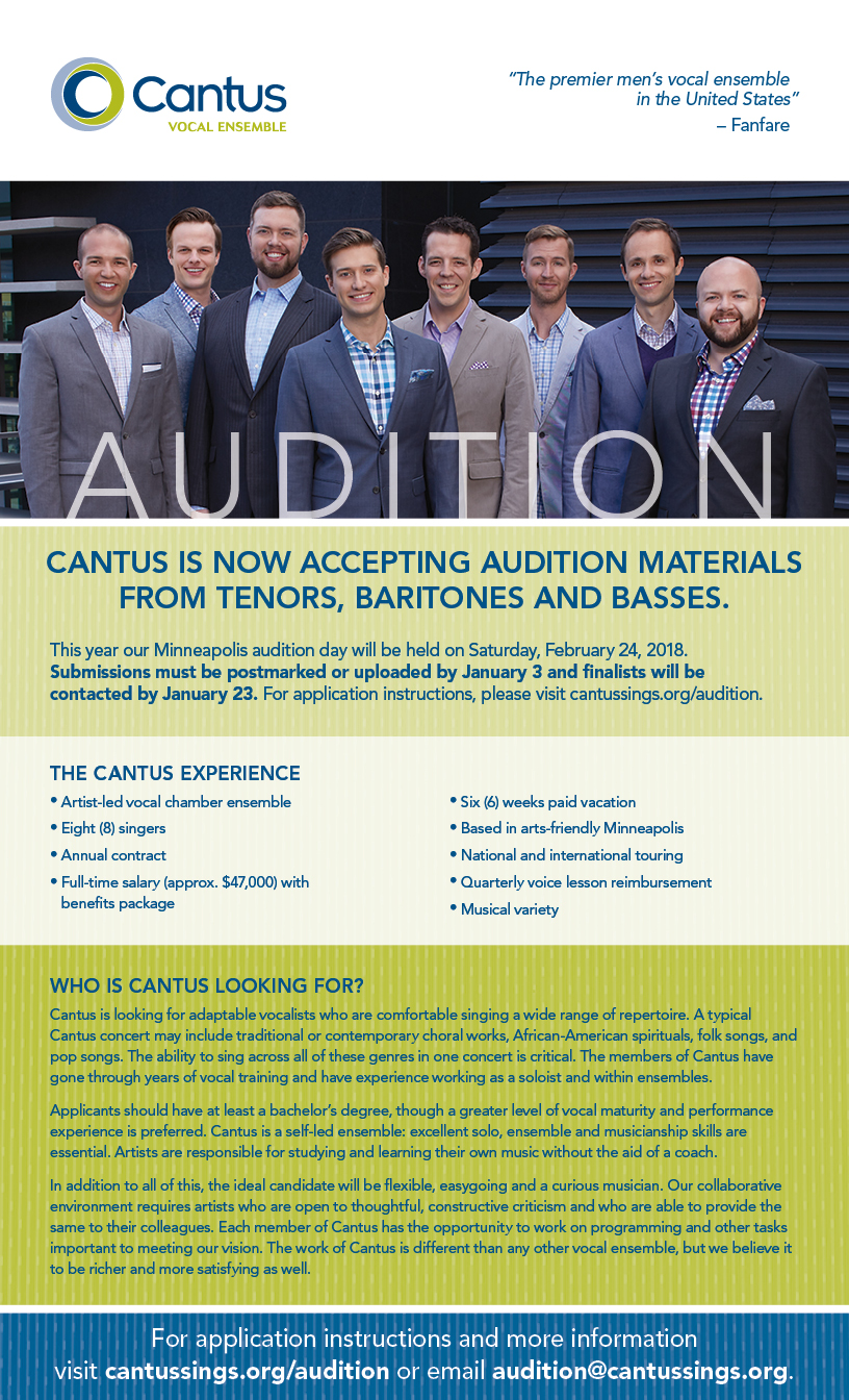 Cantus | Auditions